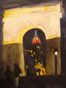 Washington Square by night. Copyright Robin L. Chandler.