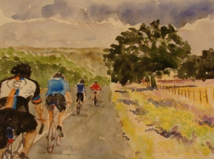 Day 3: King City to Paso Robles; starting up Quadbuster. Robin L. Chandler 2014