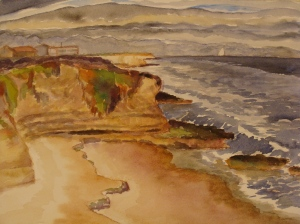 View of Santa Cruz coastline and Monterey Bay National Marine Sanctuary. Copyright Robin L. Chandler 2014