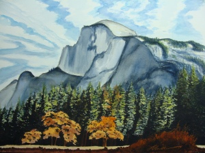 View of Half Dome in Yosemite Valley. Copyright Robin L. Chandler 2014.