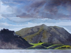 Black Mountain from the Nicasio Reservoir. Copyright Robin L. Chandler 2014.