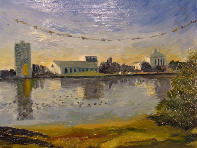 Lake Merritt Fall morning. Robin L. Chandler Copyright 2015.