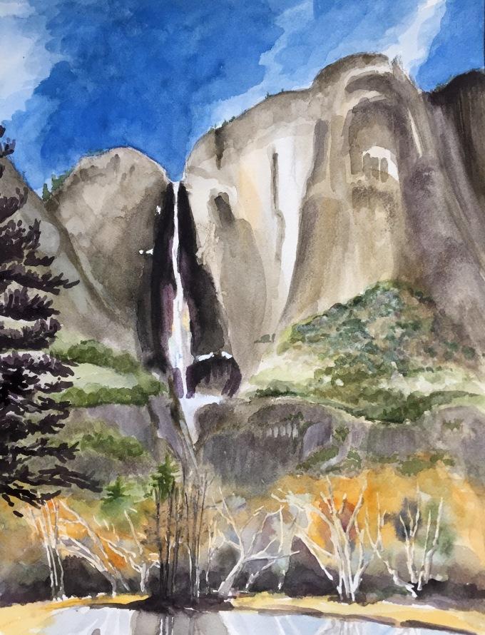 Yosemite Falls. Robin L. Chandler Copyright 2015.