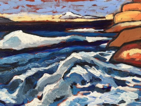 Stormy seas on Monterey Bay. Robin L. Chandler Copyright 2016.